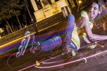 Lightslalom: Freestyle slalom patines y fotografía