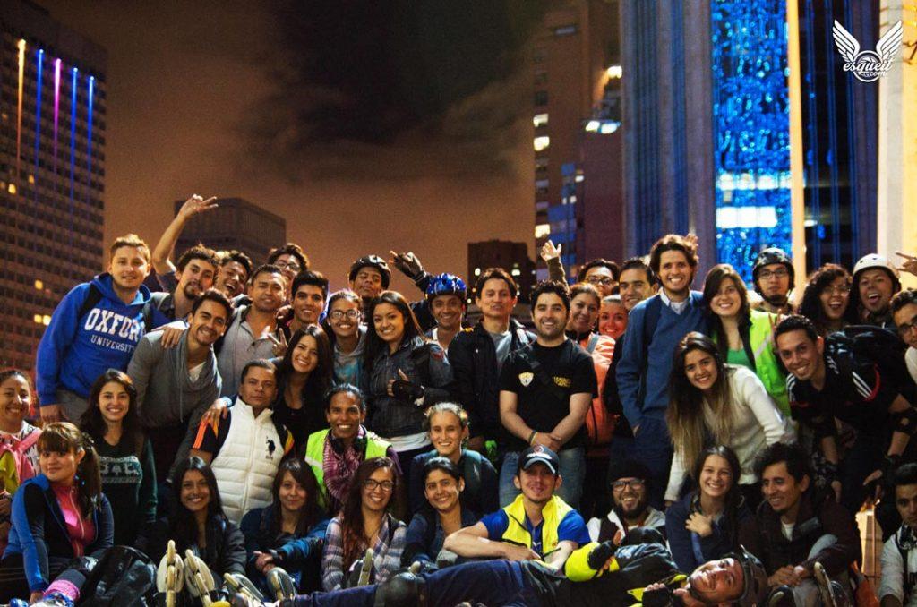 Bogota Patina Ruta Nocturna de patinaje
