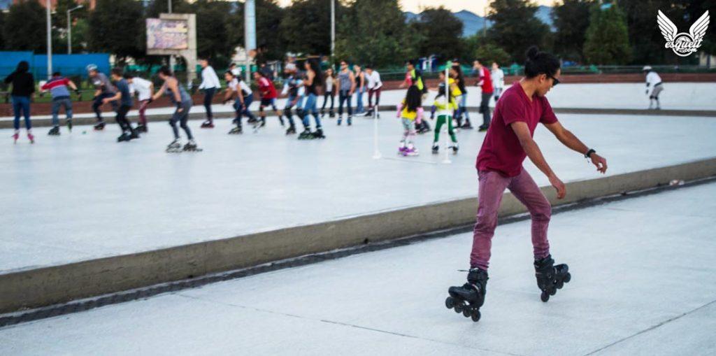 Bogota patina practica de habilidades y técnica