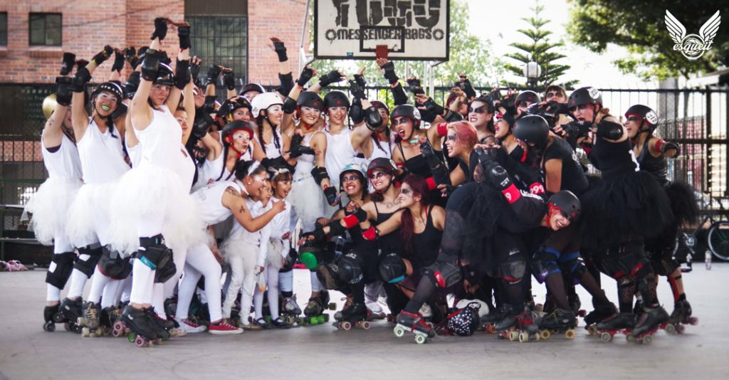 Rock n Roller Queens roller derby disfrazadas
