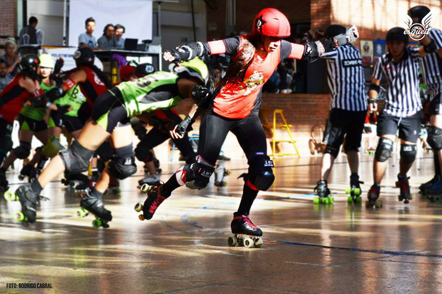 La gran final del 2do Torneo Distrital de Roller Derby